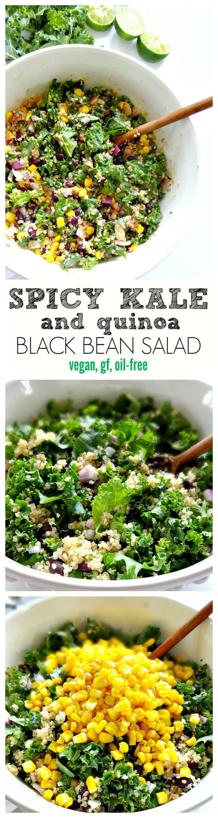 Spicy Kale and Quinoa Black Bean Salad