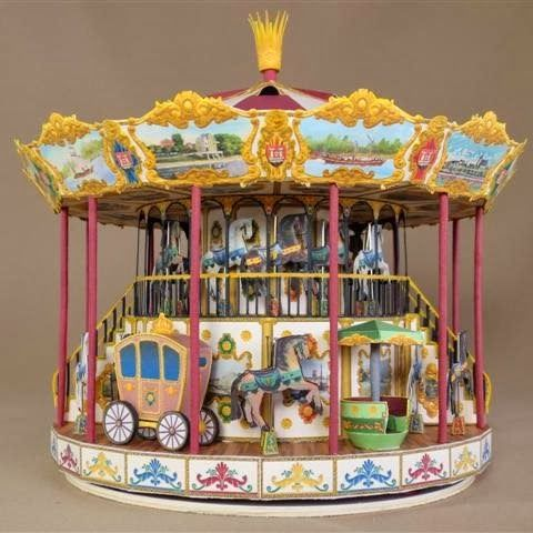 Tektonten Papercraft - Free Papercraft, Paper Models and Paper Toys: German Christmas Carrousel Paper Model