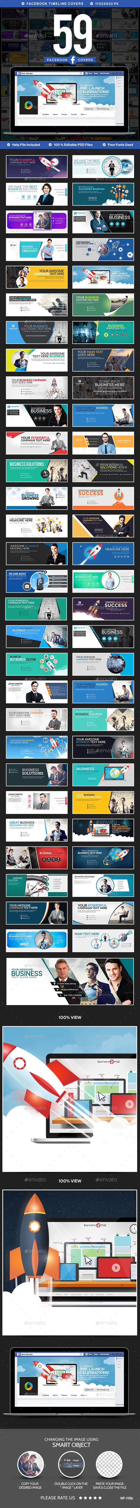 59 Mega Facebook Timeline Covers Template PSD. Download here: http://graphicriver.net/item/mega-facebook-timeline-covers-bundle-59-designs-/15374921?ref=ksioks