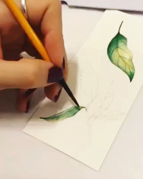 What a wonderful time for watercolor lemon leaf painting