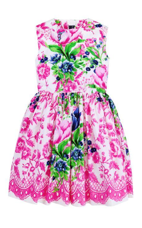 Girls Super Pose Flora Party Dress by Oscar de la Renta