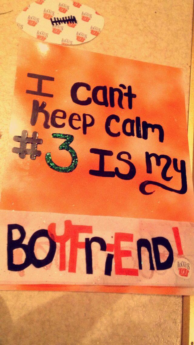 Football boyfriend poster boards #3 sayings quote football game DIY