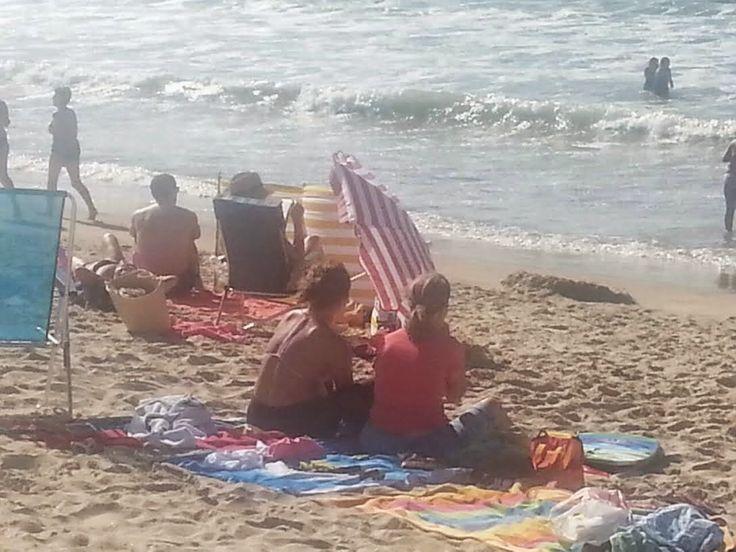 Playa de Miño: Un día ventoso