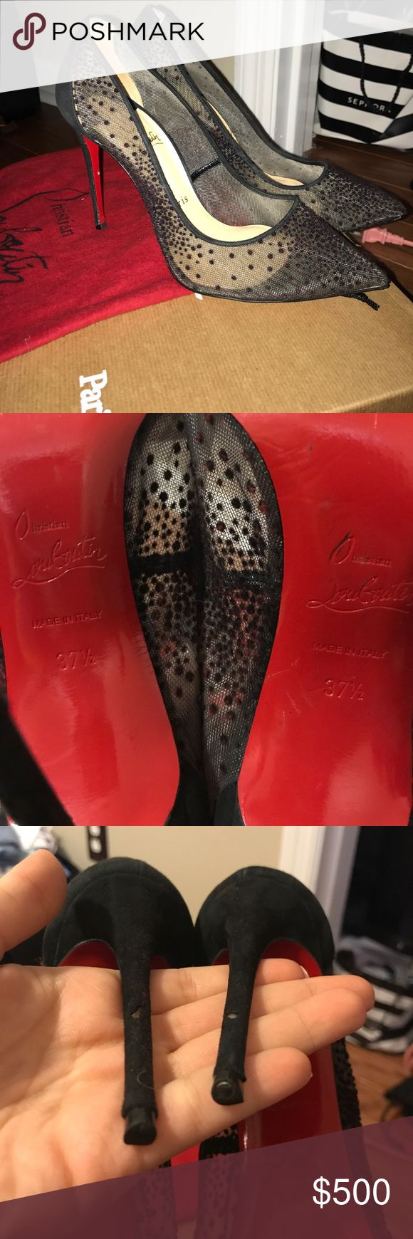 Black louboutin heels The best heals everrrrr love these simple classy heels. They are my very first pair and do have wear but nothing a shoe place can't fix Christian Louboutin Shoes Heels