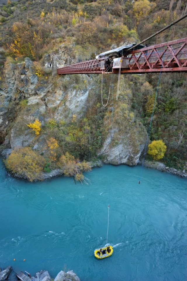 Don't Look Down: Kawarau Bridge - New Zealand  As the the site of the first commercial bungy jump...