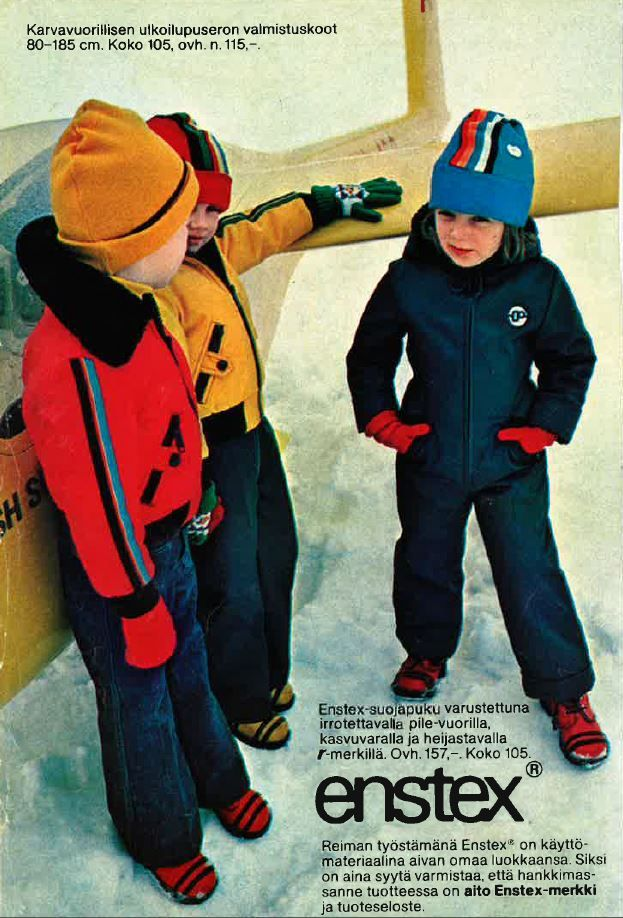 #Reima70 In winter 1976 I was a model for Reima (me on the right). In Jämi we were shooting 1976 new Autumn collection.  -Sari Lilja