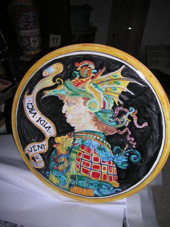 piatto maiolica