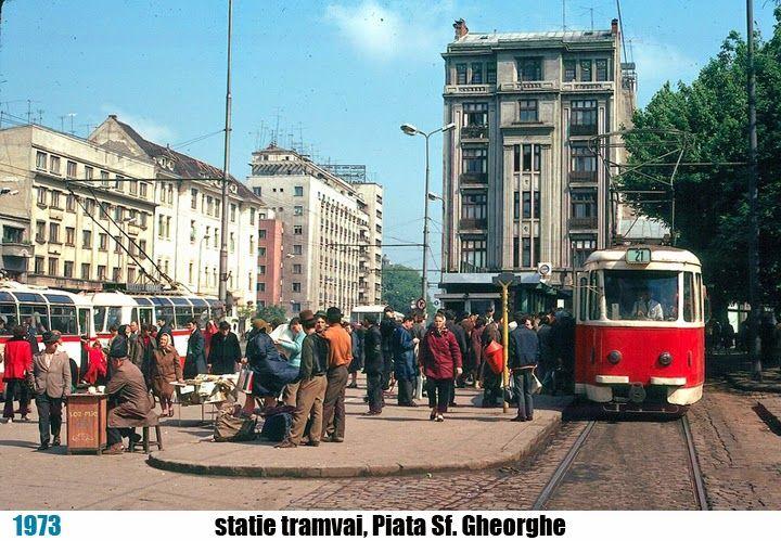 stație de tramvai la Piața Sf. Gheorghe, București - theNow | Trecutul la timpul prezent