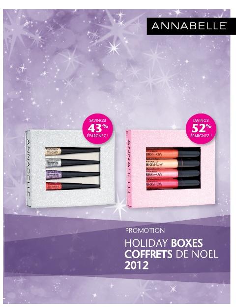 Coffrets des Fêtes 2012/Holiday Boxes 2012 SRP $17.95