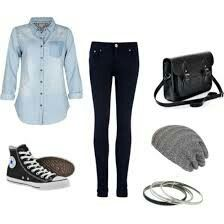 Outfit at the school