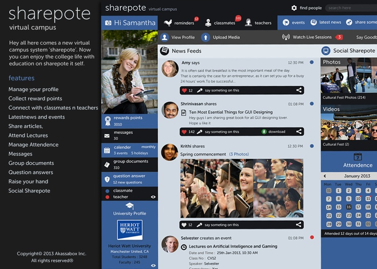 Share pote features. How it can help us to get of boring education systems.