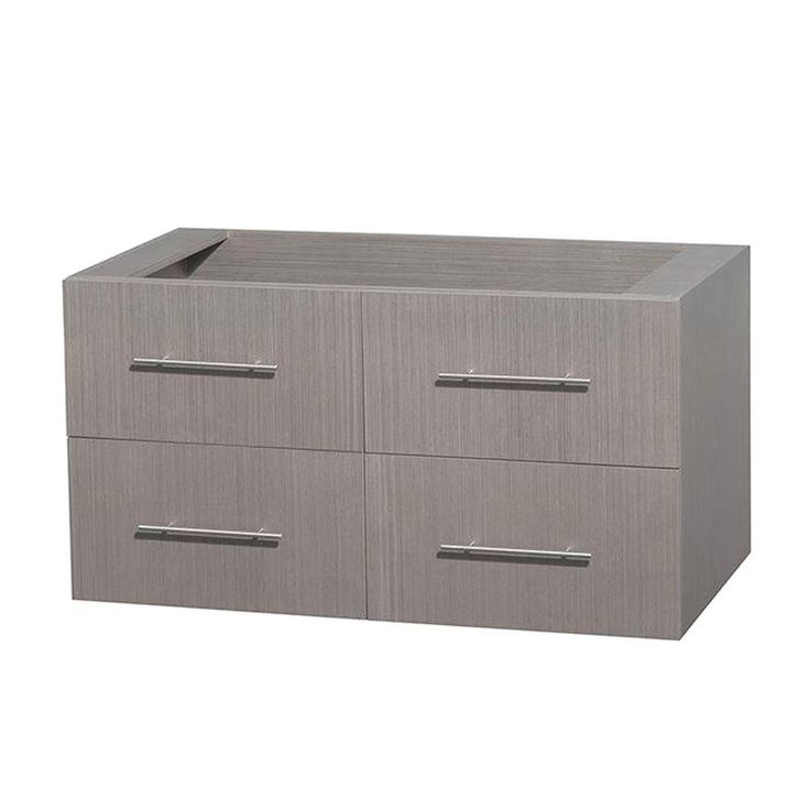 Photo Image Wyndham Collection Centra in Vanity Cabinet Only in Gray Oak
