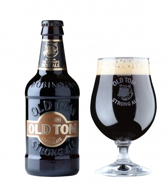 Cerveja Old Tom With Chocolate, estilo English Brown Ale, produzida por Robinsons, Inglaterra. 6% ABV de álcool.