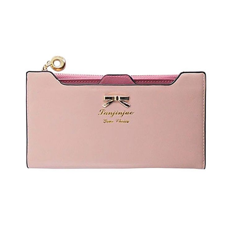 Fashion Women Wallets Girls Cute Bowknot Purse Long PU Leather Wallets Clutches Card Holders Women Notecase Burse Lady Carteira