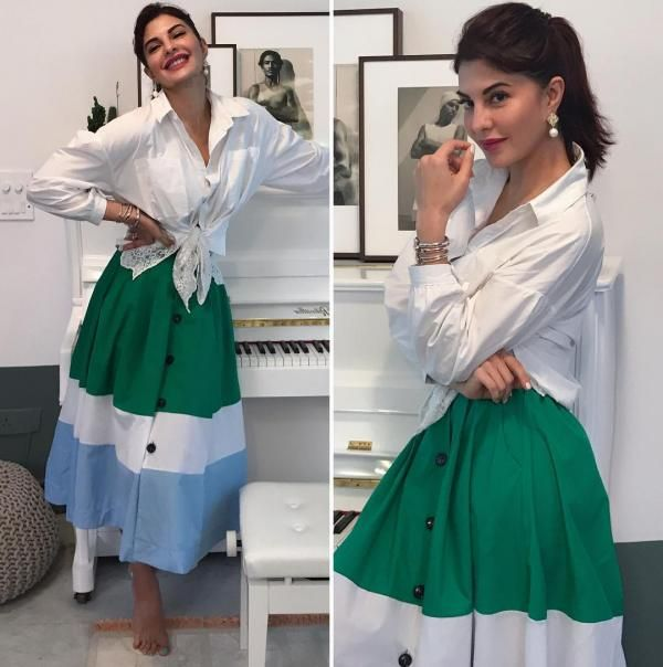 Judwaa 2 Style File: Jacqueline Fernandez nails the fashion game with her promotional looks | PINKVILLA