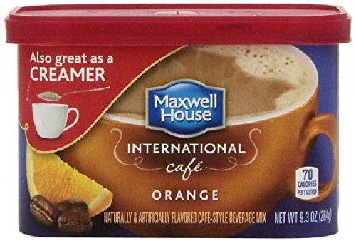 #Maxwell House International Coffee Orange Cafe; 9.3ounce Container; (pack of 4)