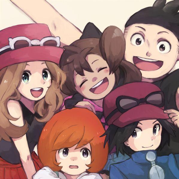 Serena, Shauna, Tierno, Trevor, and Calem (X/Y)