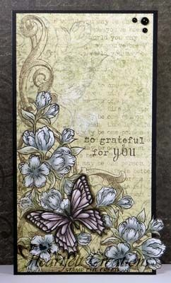 Heartfelt Creations | Grateful - such a gorgeous card - ethereal and light!