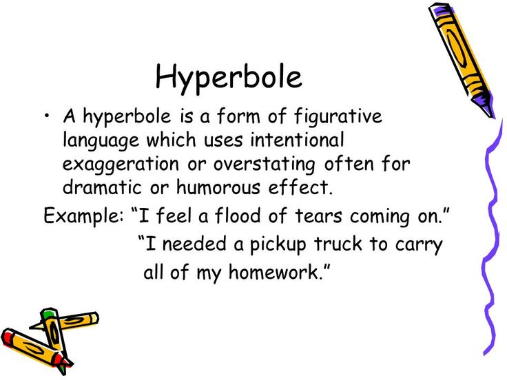 Image result for Hyperbole with images