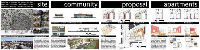 architecture student presentation boards - Google Search