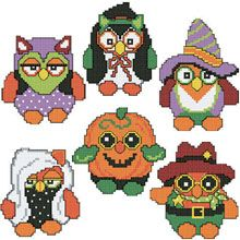 Halloween Owls Plastic Canvas Ornaments  - Herrschners