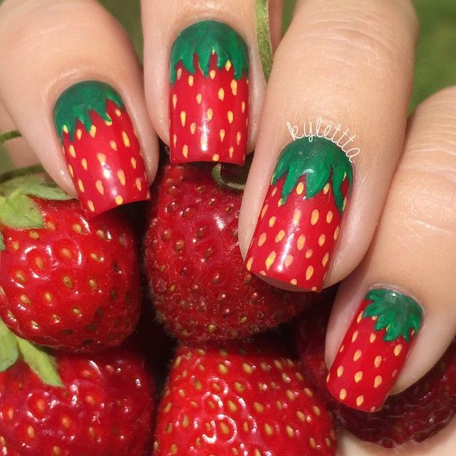 Exceptionnel The 25+ best Strawberry nail art ideas on Pinterest | Nail designs  IR11