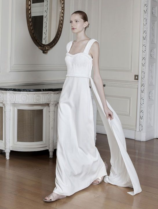 Robe de mariée à ceinture torsadée style grec, déesse antique - Robe: Sophia Kokosalaki - La Fiancée du Panda Blog Mariage & Lifestyle