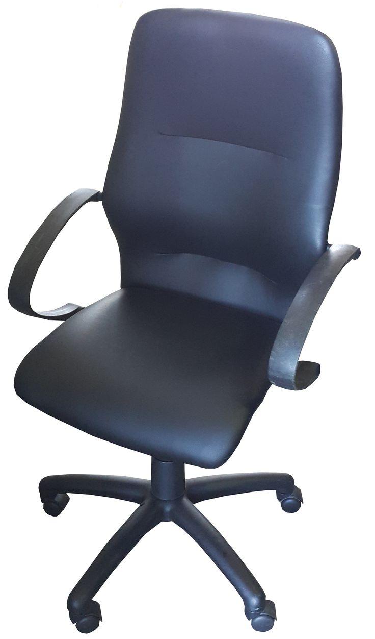 Black vynil highback typist chair with gas & tilt @ R1020.00