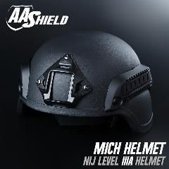 [ $160 OFF ] Aa Shield Bulletproof Tactical Helmet Low Cut Safety Helmet Ballistic Mich Aramid Core Lvl Iiia 3A Black Xl