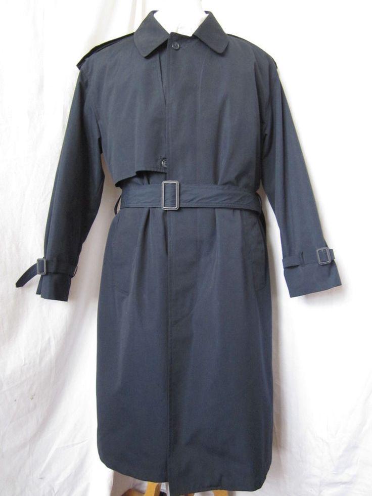 Coat Trench 38 Short Moores Rainwear Zip Out Liner Rain Blue Overcoat Top Mens - eBay Seller Username janna!