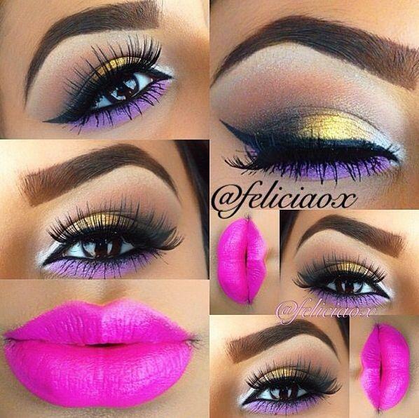 Love the eye makeup but not lips!