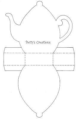 Bettys-creations: Teekanne mit Vorlage