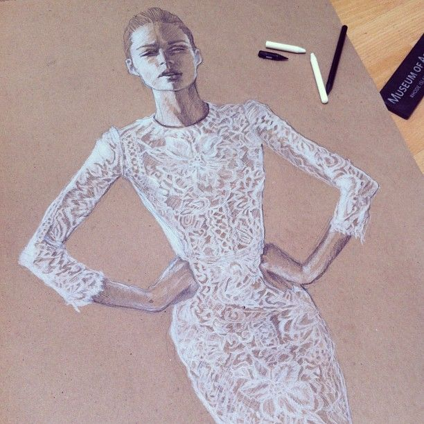 Finishing up the Lace Dress I broke Two #pencils :-)