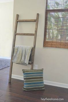 diy furniture you will save a boatload of money with my diy blanket ladder pottery - Wohnzimmer Ideen Keramik Scheune Stil