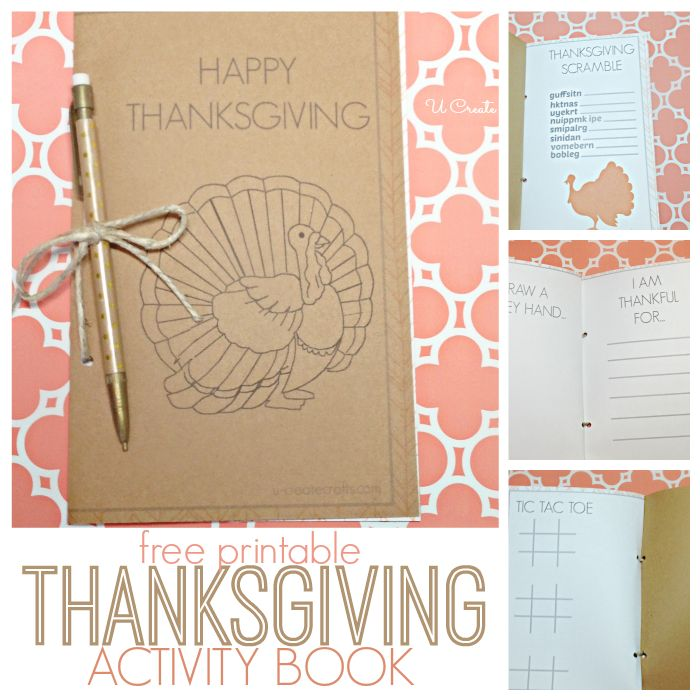 DIY Thanksgiving Activity Book that the kids can put together and will keep them occupied while the turkey is cooking.: