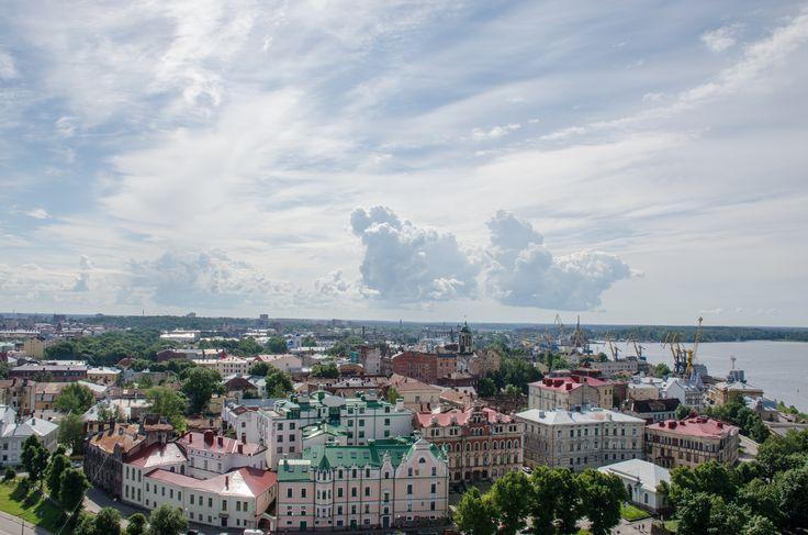 вид с башни Святого Олофа (perspective that ine can see from St. Olof's tower)