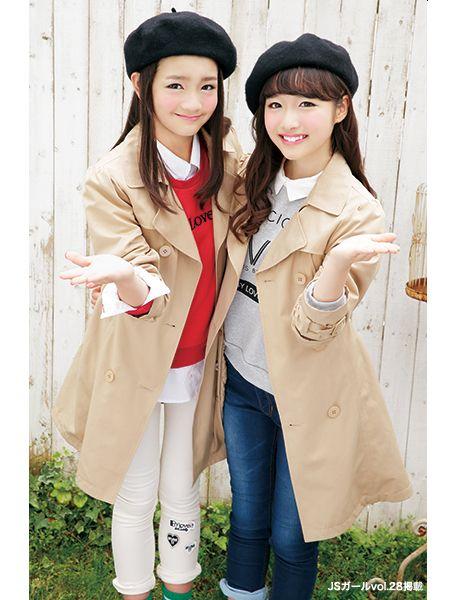 トレンチコートとベレー帽で大人っぽく♪ ☆小学生ファッション スタイルの参考コーデ☆