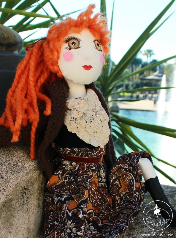 Barbara handmade cloth doll