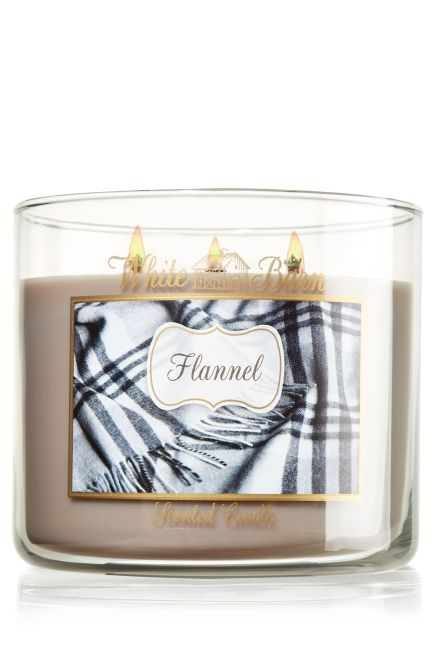 Flannel!  One of my new fav candle scents for the Fall!!! Flannel 14.5 oz. 3-Wick Candle - Slatkin & Co. - Bath & Body Works