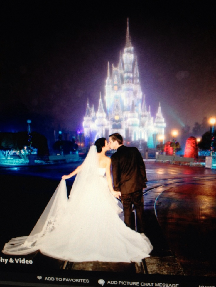 #disney #wedding My son & beautiful daughter-in-law..WDW wedding 12/3/12..pic in front of castle..<3