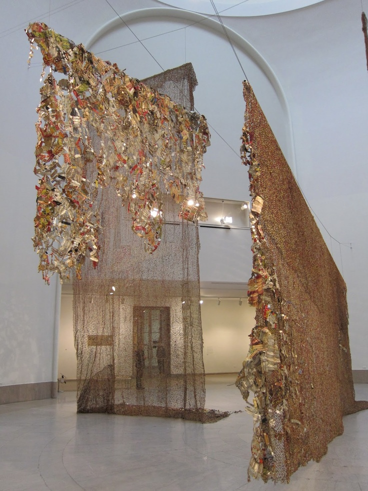 El Anatsui retrospective exhibition at Brooklyn Museum