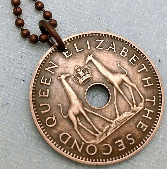 GIRAFFE necklace Vintage 1964 Rhodesia