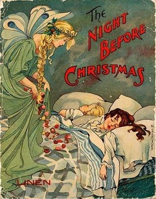 A beautifully illustrated vintage copy of The Night Before Christmas. #vintage #Christmas #books
