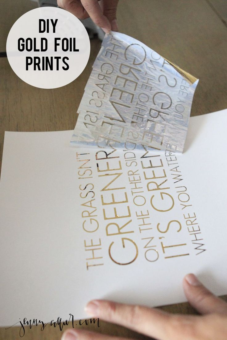 Create your own DIY gold foil print with this simple tutorial..
