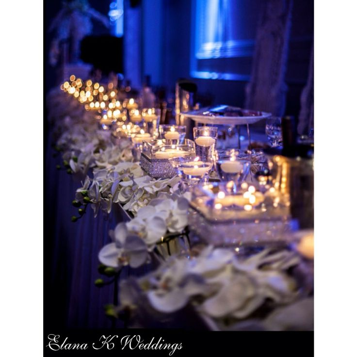 Over 100 candles, a garden of orchids and 20 thousand hand jewelled pearls and crystals.