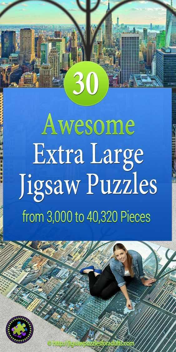 Looking for a challenge? These Extra Large Jigsaw Puzzles for adults are pretty cool! If you have the space one of these GIANT jigsaw puzzles would make a totally unique wall jigsaw puzzle.