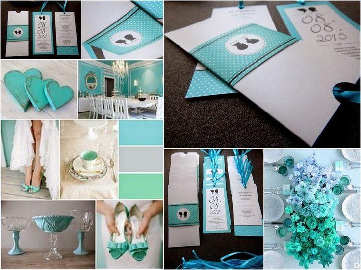 Turkusowy ślub czyli Tiffany blue.    Zdjęcia zaproszeń: polkastudio.pl Zdjęcia dekoracji : bukiet i reszta  https://www.pinterest.com/pin/242138917440098062/ ttps://www.pinterest.com/search/pins/?q=tiffany wedding&term_meta[]=tiffany|typed&term_meta[]=wedding|typed