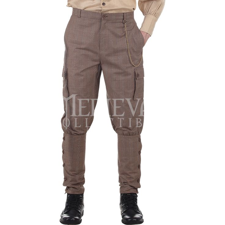 Checkered Airship Steampunk Trousers - DC1348 by Medieval Collectibles
