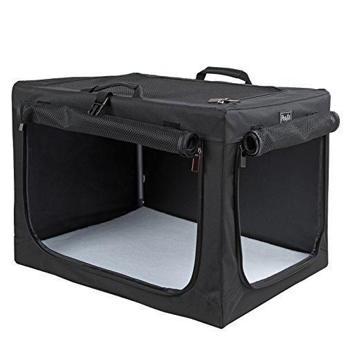 Petsfit 36 X 24 X 23 Inches Travel Pet Home Indoor/Outdoor For Medium To Large Dog Steel Frame HomeCollapsible Soft Dog Crate(Black)