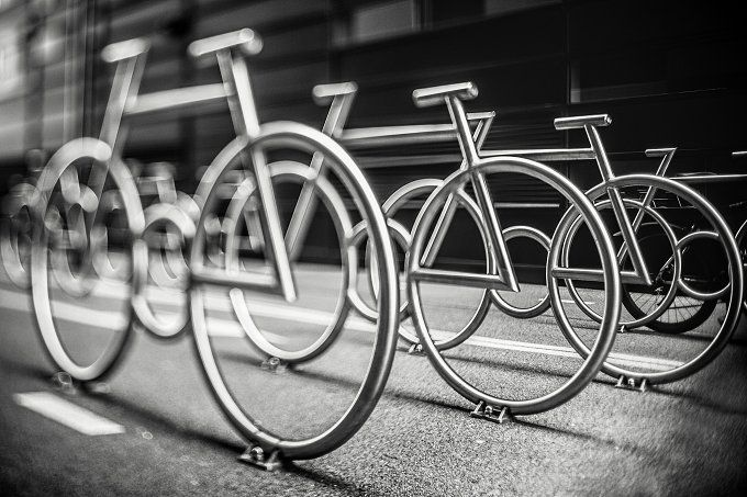 Bicykle parking, Barcode, Oslo by tabby on @creativemarket